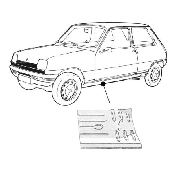 Renault R5 Bodenblech Hinten Links